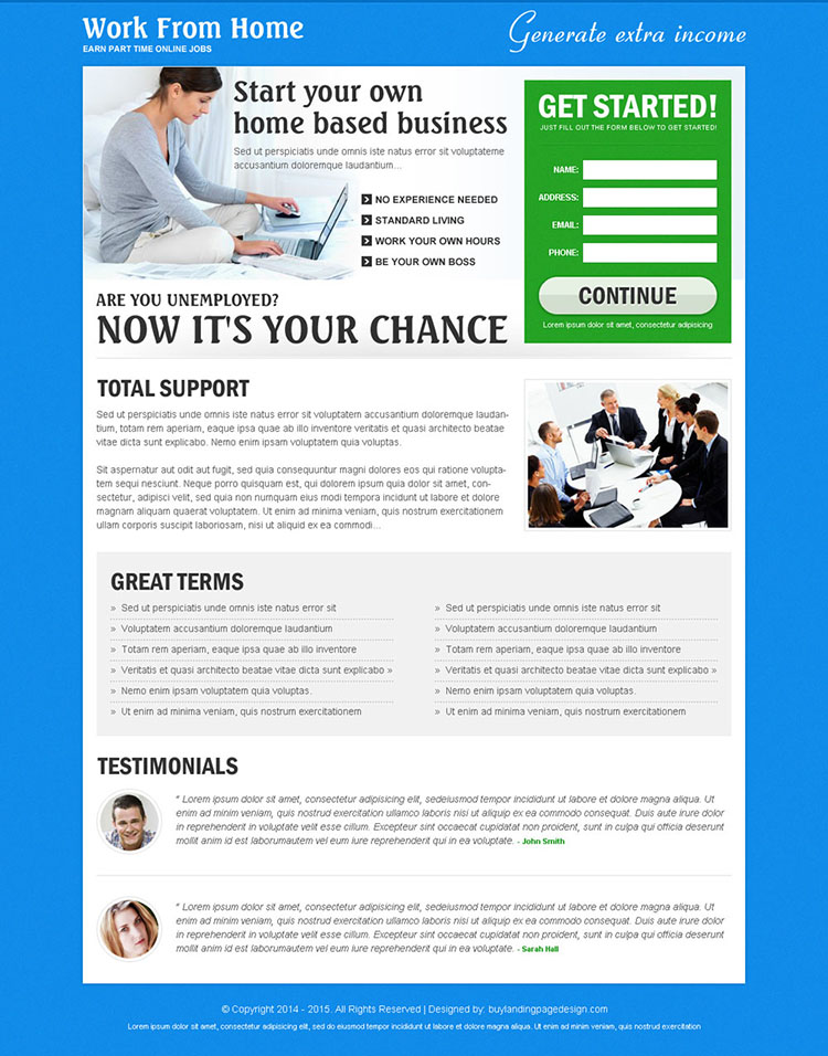 Emejing Online Designer Jobs Work From Home Ideas Interior  : home based business service lead capture landing page design templates to work from home and earn money online 014 from tolkienacrossthewater.com size 1000 x 1274 jpeg 201kB