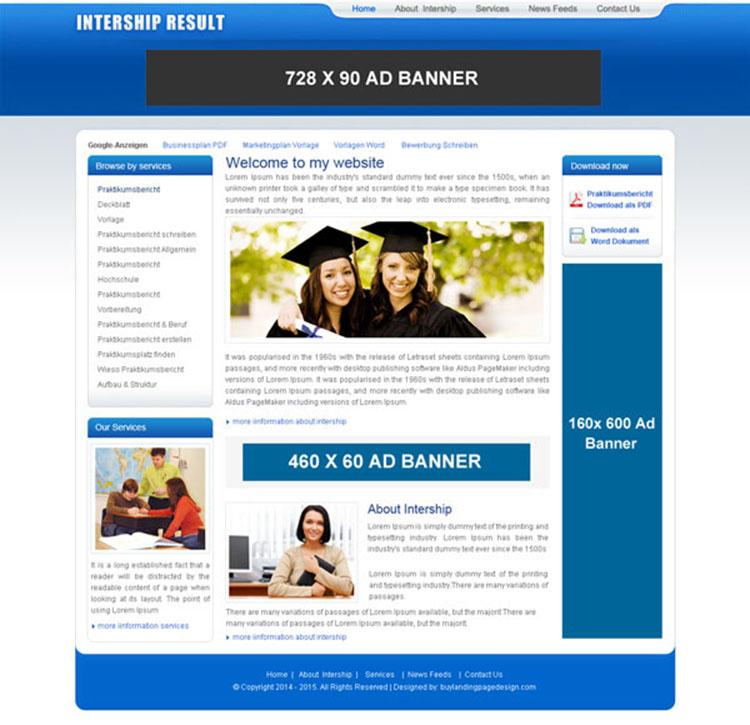 internship-online-education-design-011 Website Template PSD sale - how to create a website template