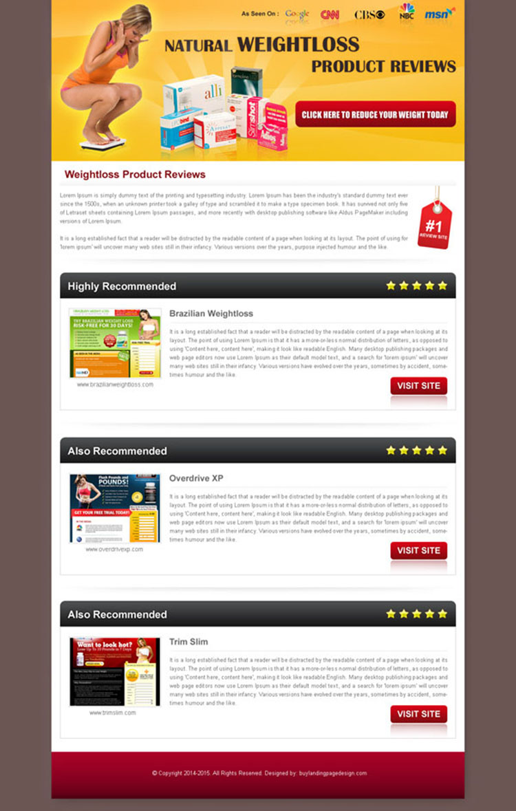 natural-weight-loss-product-review-016 Landing Page Design sale - product review template