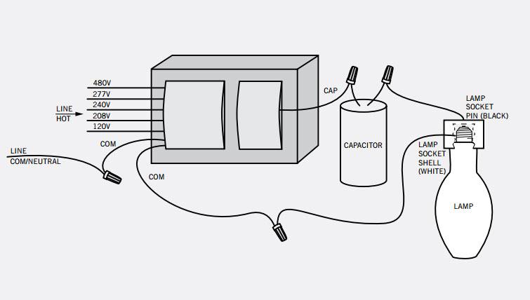 metal halide 208 wiring diagram