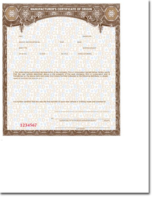Standard Blank MCO\u0027s (Vehicle, Trailer, Motorcycle, etc) \u2022 Buy - blank certificate of origin