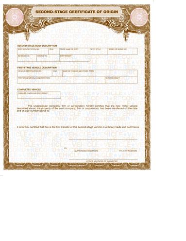 Blank Second Stage MCO\u0027s \u2022 Buy Manufacturer Certificate of Origin\u0027s