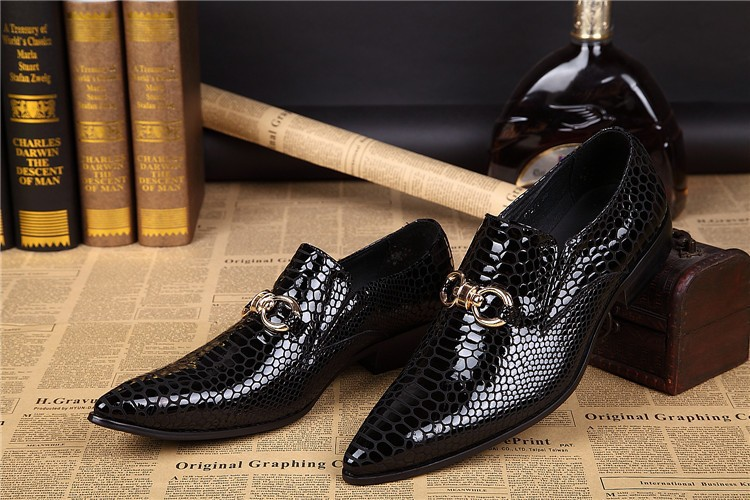 Black Shiny Italian Shoes For Men