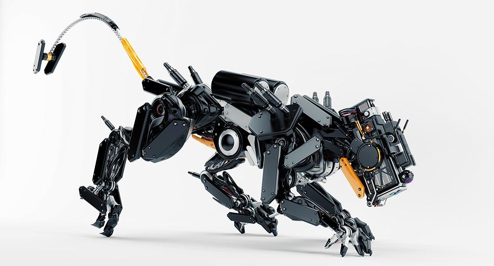 3d Cheetah Wallpaper Black Robot Panther V2 Buy Your Robot