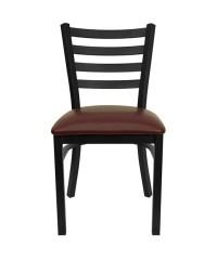 Black Ladder Back Metal Reception Chair