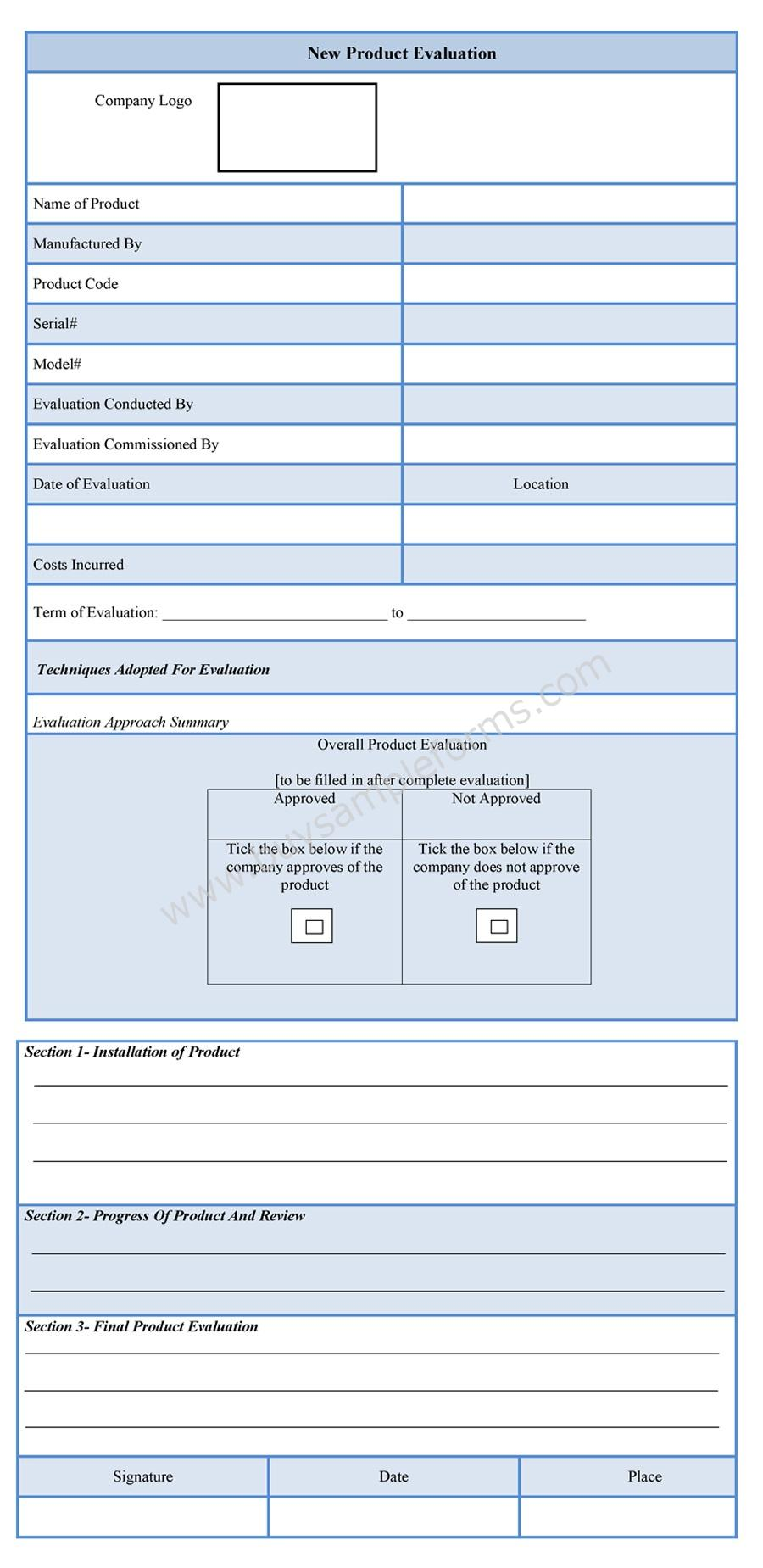 Learning Training Development Hr Council New Product Evaluation Form Sample Forms