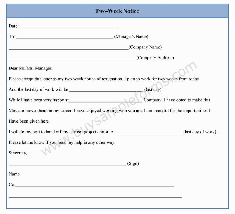 Employment Application Template 21 Examples In Pdf Two Week Notice Form Template In Word Sample Format
