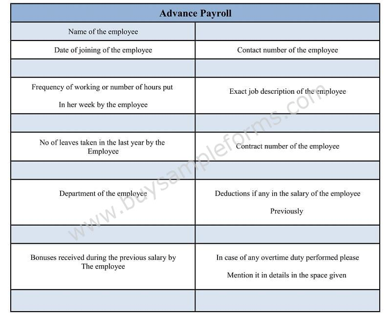 Salary Advance and Payroll Deduction Form in Word Doc Employee