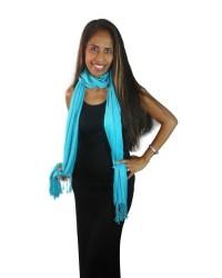 Turquoise Pashmina - Buy Silk Scarves