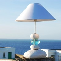 Aquamarine Ocean Wave Table Lamp | Pebble Table Lamp ...