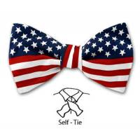 Self Tie Bow Tie Red