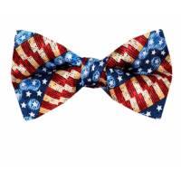 USA Flag Pre Tied Bow Tie