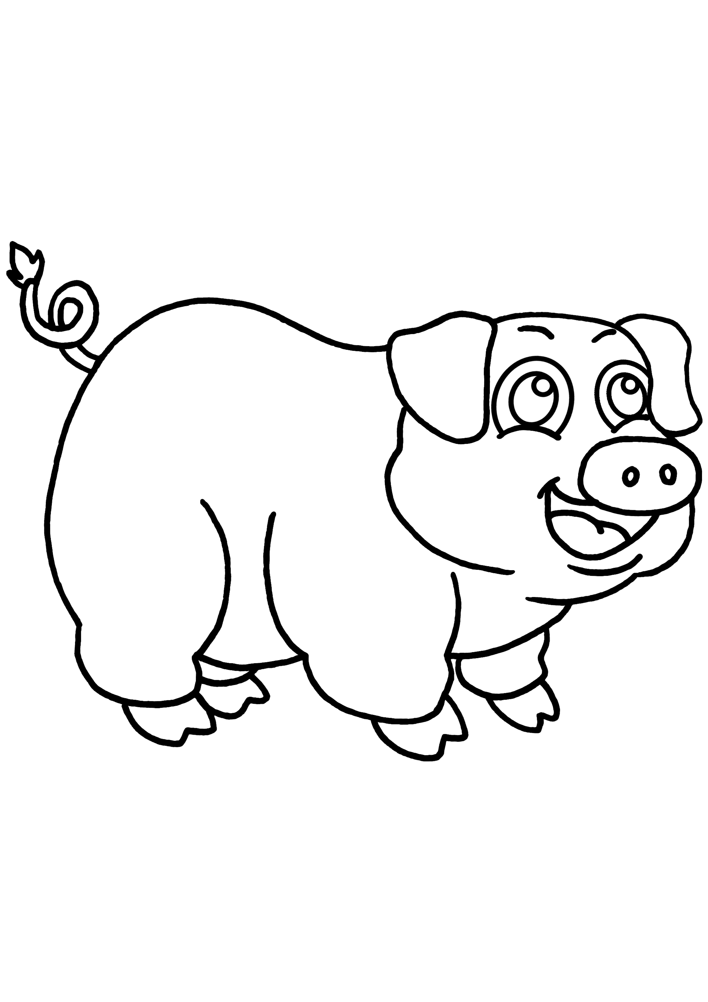 coloriage de cochon la image coloriage de cochon dinde a auto20 dessins de coloriage cochon en ligne u00e0 imprimer