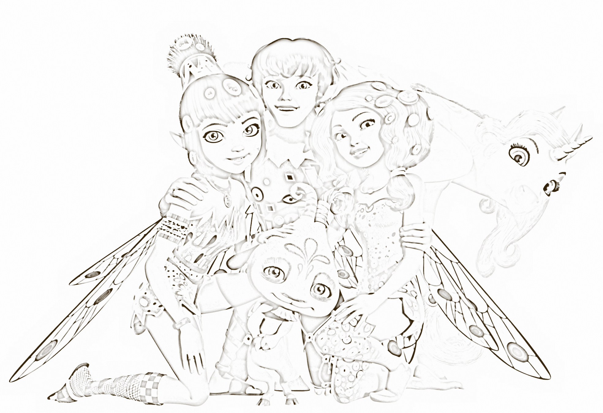 Mia And Me Coloring Pages Eskayalitim
