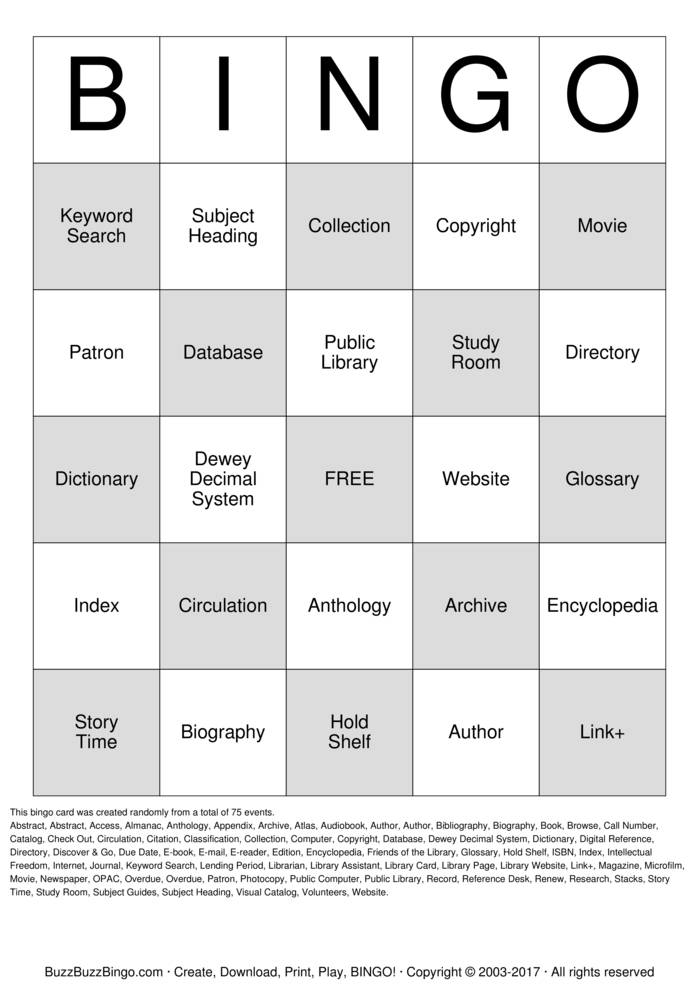 library check out sheet