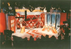 The set of the very first Showdown pilot, complete with the bonus round safe