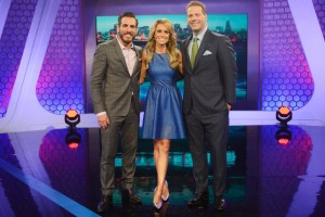 "BATTLEBOTS -  The robot shrapnel will fly in the BattleBox this summer, with expert play-by-play analysis from veteran sports broadcaster Chris Rose, and color commentary from former UFC fighter Kenny Florian. Hosted by celebrated sports anchor Molly McGrath, ""BattleBots"" premieres SUNDAY, JUNE 21 (9:00- 10:00 p.m., ET) on the ABC Television Network. (ABC/David Moir) KENNY FLORIAN, MOLLY MCGRATH, CHRIS ROSE"