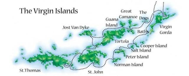 Virgin Islands Maps USVI and BVI