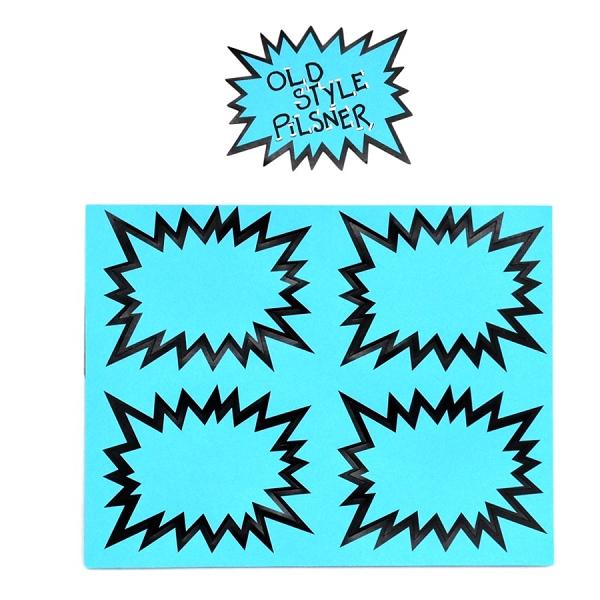 SMALL NEON BLUE STARBURSTS