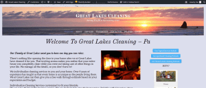 Cleaning Company Website Design title=Great Lakes Cleaning-Pa