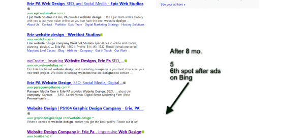 1st Page Bing Search