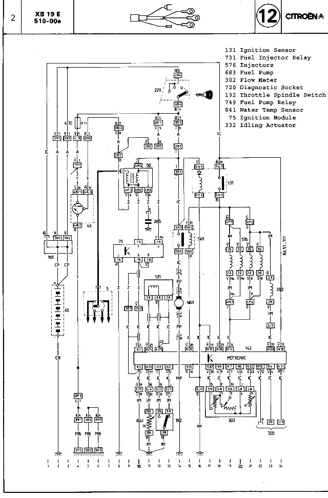 bx wiring wires scheme of bx 16v 1