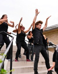 Site-specific creative dance performance at Owen Dolen ...