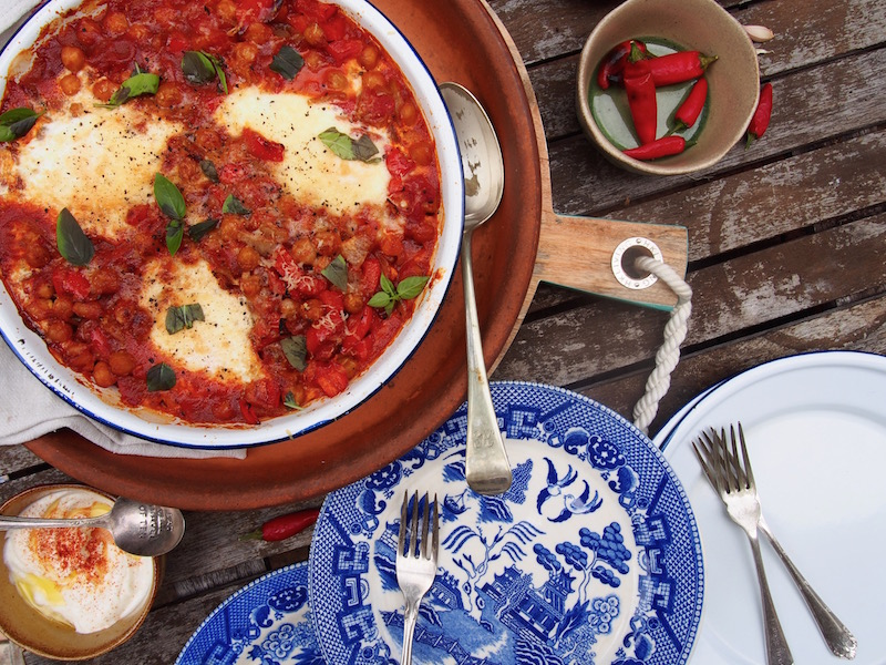 Mexican Baked Eggs By Rosie, Meatless Mondays