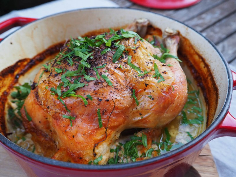 Chicken in Milk with Thyme and Preserved Lemon, Recipes By Rosie, www.by-rosie.com
