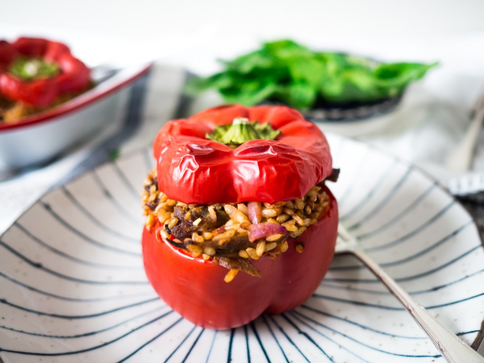 Leftover BBQ Pork Stuffed Capsicum, Love your Leftovers, Recipes By Rosie, www.by-rosie.com
