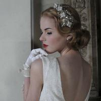 Wedding Hair Band - Goddess Garden  Handmade