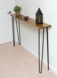 Leftover Pine DIY Hairpin Leg Console Table | By Brittany ...