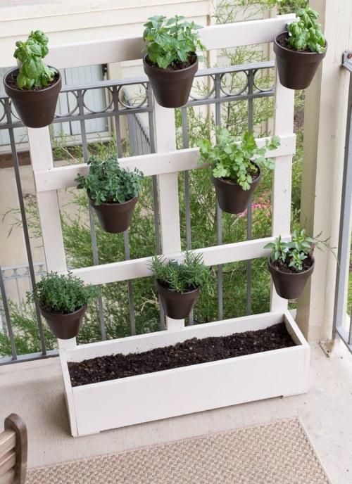 Medium Of Wooden Herb Garden Planters