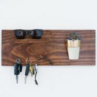Make a Hanging Wooden Key Holder