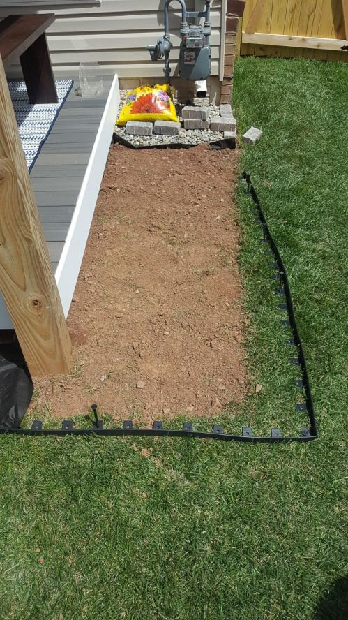 Medium Of Landscaping Around Deck