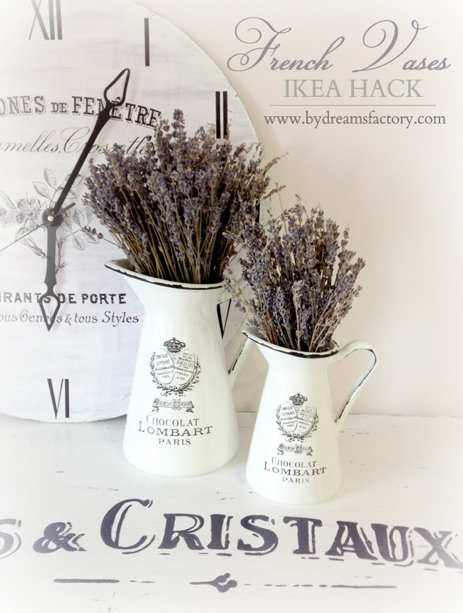 DIY French Vases (Ikea hack)
