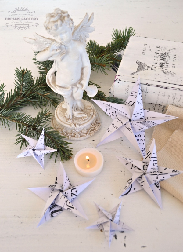 DIY {Origami} French Paper Stars & free printables | www.bydreamsfactory.com