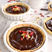 The best French tartlets (with a brown butter crust and a dark chocolate ganache filling)