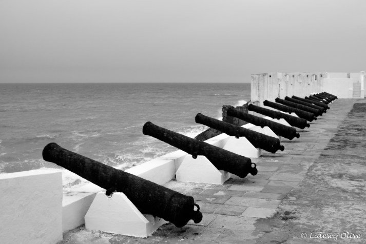 canons at cape coast castle, Ghana