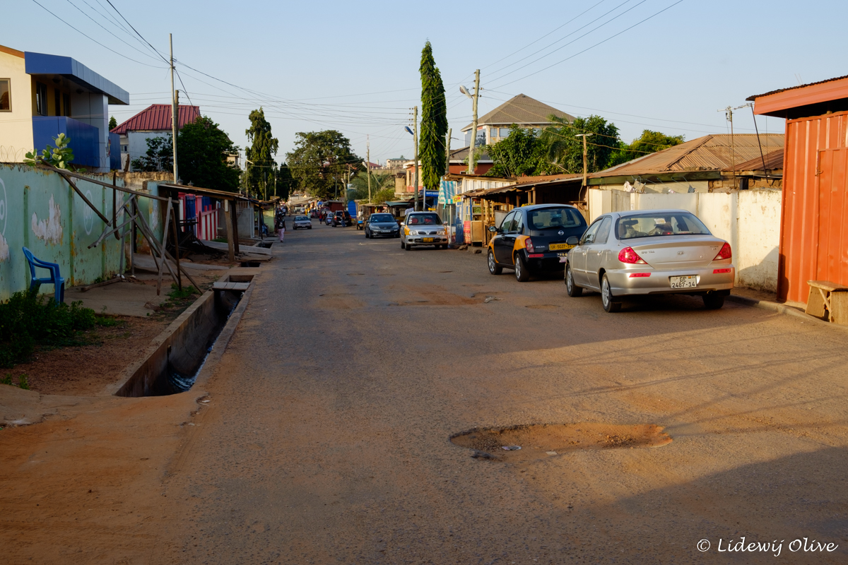 street where our hostel was situated on in Accra, Ghana