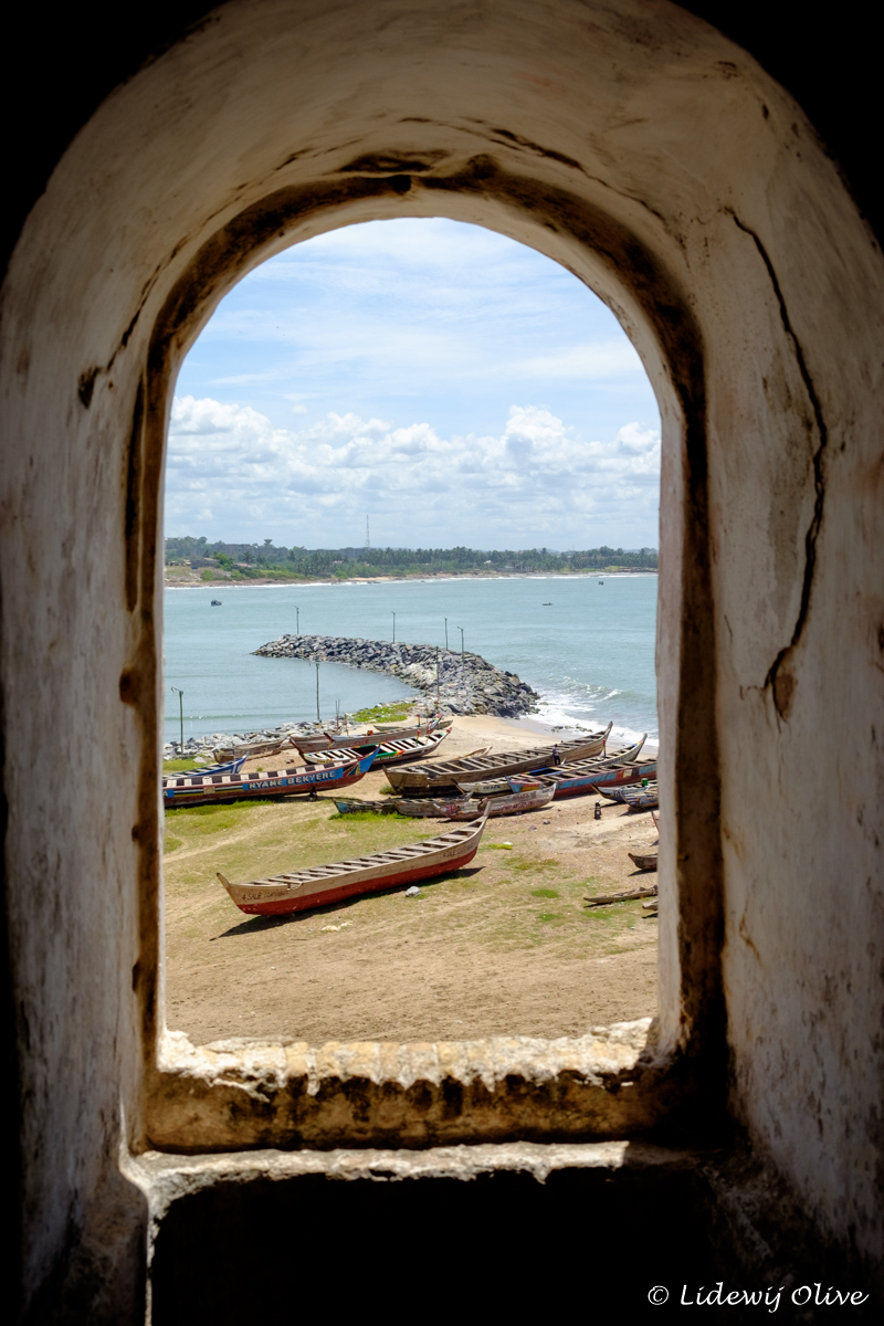 view from elmina castle, Ghana