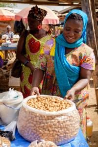 Selling kule kule (something like peanut chips) at the market