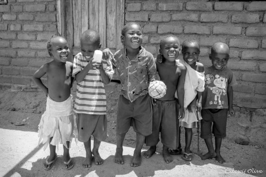 Happy children black and white in CapeMclear