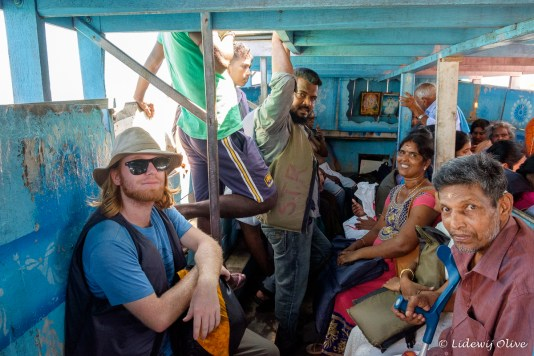 Inside the ' ferry' to Nainativu
