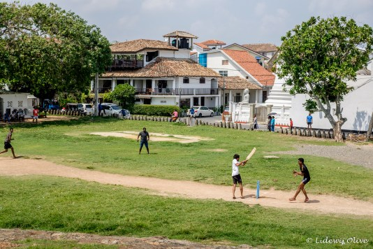 Cricket in the colonial town of Galle