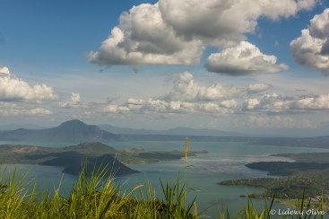 Taal vulcano seen from the amusement park