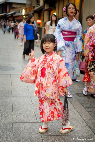 Even children dress up as Geisha