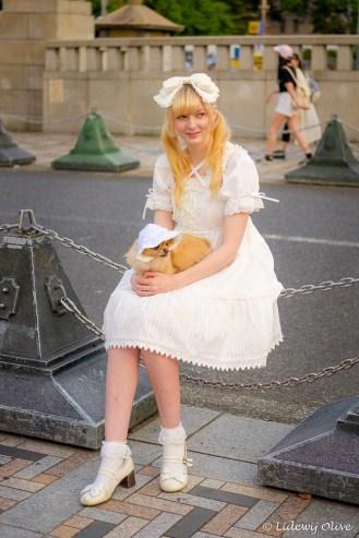 Harajuku, yes, she is having a dog