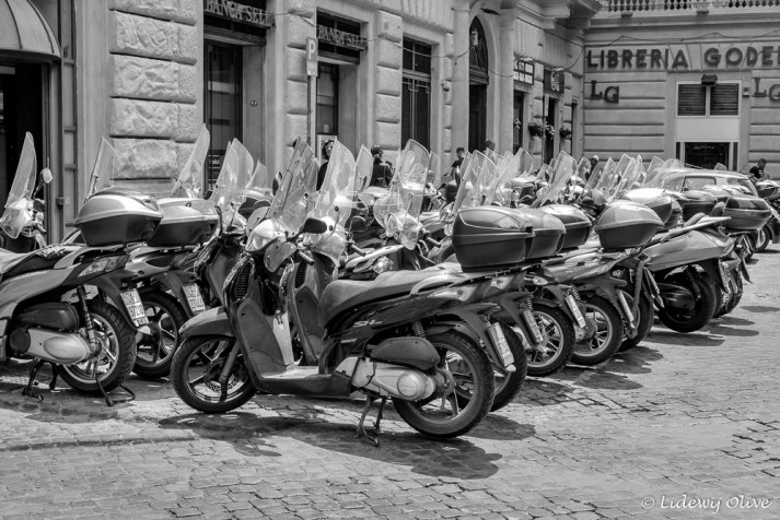 Lot of Vespa's in Rome