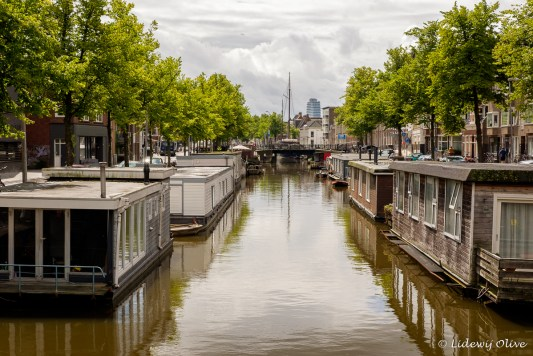 Houseboats in the canals of Groningen